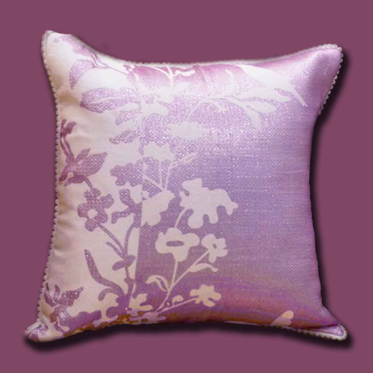 Buy Luxurious Purple and Silver Cushions by Caffe Arch Design Studio