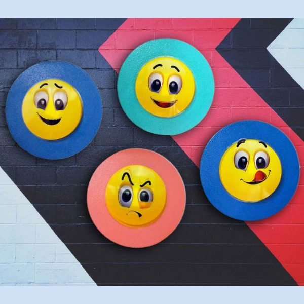 Buy Handcrafted Emoticons Wall Decor By Caffe Arch Design Studio
